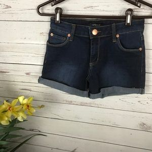 STS Dark Wash Denim Jean Shorts Cuffed - U1